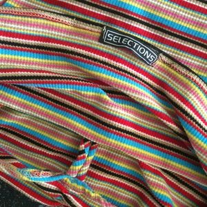 Vintage Tops - Stretch Rainbow Vintage Halter Crop Top 90's